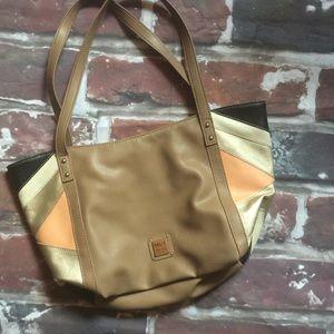 Relic tan and peach handbag